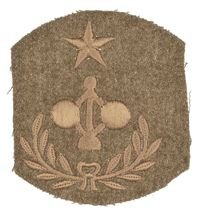 WWI MASTER ENGINEER COAST ARTILLERY SHOULDER PATCH