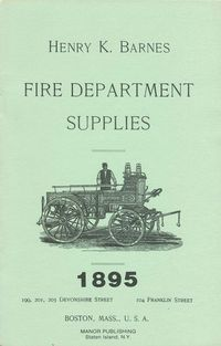 HENRY K. BARNES FIRE DEPARTMENT SUPPLY CATALOG