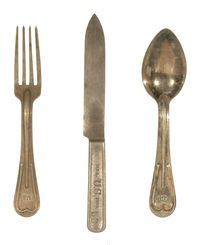 WWI KNIFE, FORK & SPOON SET