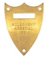 M1859 McCLELLAN SADDLE POMMEL SHIELD, ALLEGHENY ARSENAL 1861