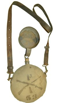 INDIAN WAR / SPANISH AMERICAN WAR CANTEEN, STRAP, & CUP
