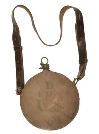 INDIAN WAR - SPANISH AMERICAN WAR CANTEEN & SLING
