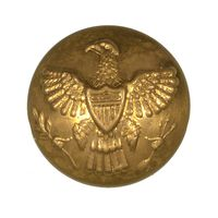 1870'S US EAGLE COAT BUTTON