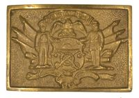 SONS OF UNION VETERANS WAIST BELT PLATE