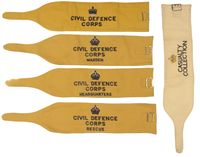 BRITISH CIVIL DEFENSE ARMBANDS