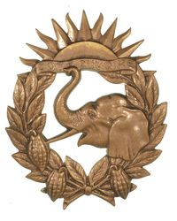 FRENCH IVORY COAST COLONIAL TROOP BADGE