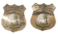 LIBERIAN TAX COLLECTOR BADGE SET
