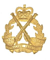 AUSTRALIAN INFANTRY HAT BADGE