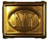 NEW YORK MILLS BELT BUCKLE