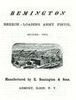 ASSEMBLY AND DISMOUNTING INSTRUCTION OF THE 1871 REMINGTON BREECH-LOADING PISTOL