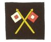 EMBROIDERED CROSSED SIGNAL CORPS INSIGNIA