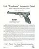 COLT AUTOMATIC PISTOL, POCKET MODEL CAL.32 & .380, HAMMERLESS