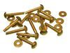 #9, 1 INCH SOLID BRASS RIVETS & BURRS