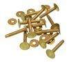 #12, 3/4 INCH SOLID BRASS RIVETS & BURRS