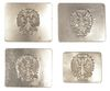 1936-1939 SPANISH CIVIL WAR BUCKLE 4 PACK