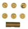 WORLD WAR I BRASS NUMBER STAMPS
