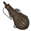 FLUTTED COPPER FLASK