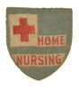 WORLD WAR II AMERICAN RED CROSS HOME NURSING SEWN PIN